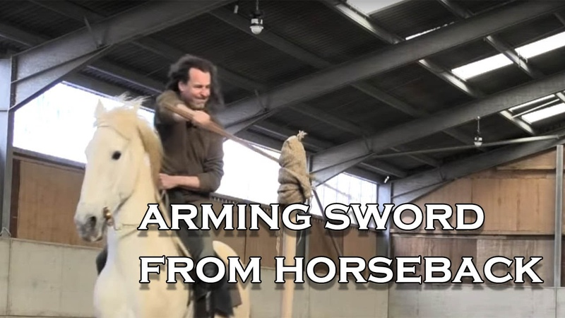Knight's sword How did a knight use his sword when on a horse I demonstrate from horseback