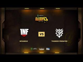 Infamous vs Thunder Predator, Monster Energy DOTA Summit 13: NA, bo2, game 2 [Mila]