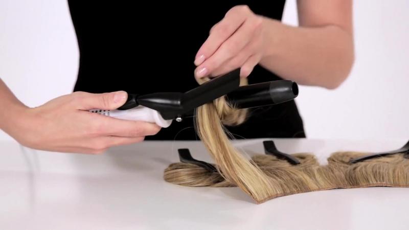 Как накручивать и выпрямлять накладные ненатуральные волосы из термоволокна.