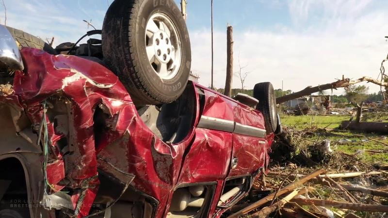 04-16-2020 Estill, South Carolina - Major Tornado Damage Drone Aerials