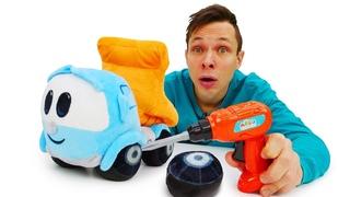Мультик для малышей про игрушки Супер Крылья и машинки. Грузовичок Лева привез Раскраску Самолетикам