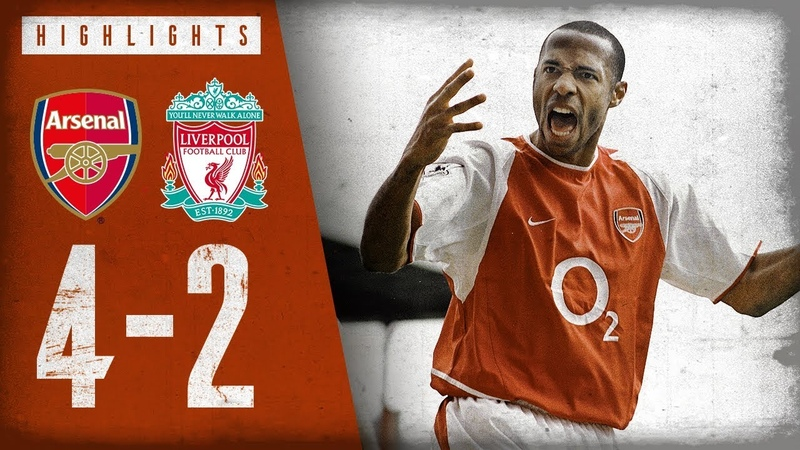 HENRY WITH A WORLDIE Arsenal 4 2 Liverpool Highlights April 9 2004