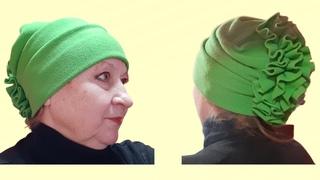 Как сшить очень красивую женскую шапку своими руками с удивительным декором Сшить шапку из трикотажа