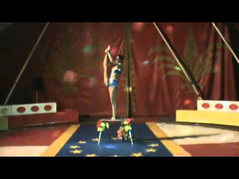SUPER FLEXIBLE circus contortion act by Mambetovs