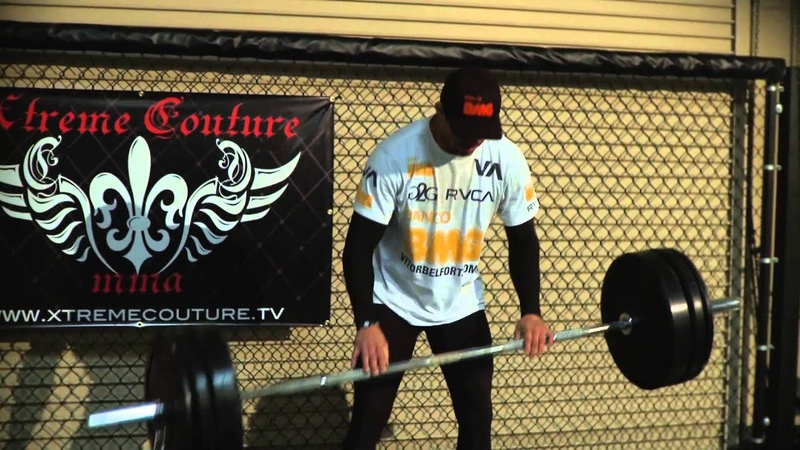 Vitor Belfort Exercises at Xtreme Couture Gym