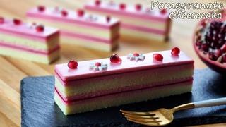 컵 계량 / 석류 치즈케이크 만들기 / Pomegranate Cheesecake Recipe / How to cut pomegranate / ASMR / Juice / Jelly