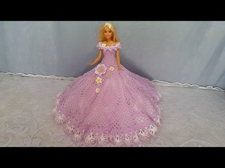 How to crochet a dress for doll