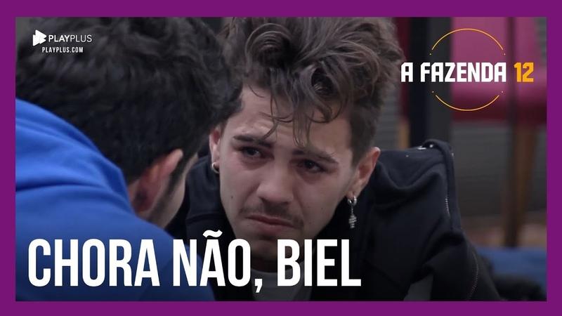 Biel fica emocionado e não consegue conter as lágrimas | A Fazenda 12