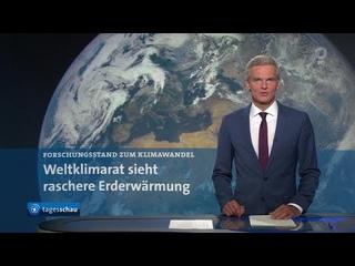 tagesschau 20:00 Uhr, : Weltklimarat warnt, 30-Milliarden-Hilfsfonds für Flutopfer