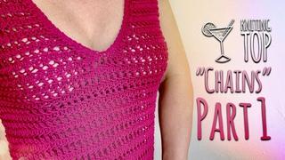 Вяжем СПИЦАМИ летнюю МАЙКУ «Chains» Подробный МК часть 1 / Beautiful summer knitting TOP