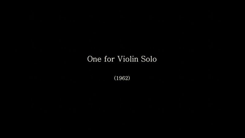 Nam June Paik - One for Violin Solo (1962)