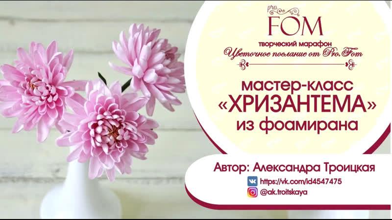 Мастер класс Pro.FOM_Про.ФОМ Хризантемы из фоамирана - Александра Троицкая