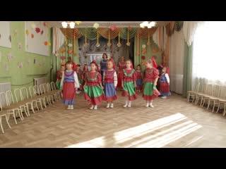 """БДОУ г. Омска """"Детский сад №119"""" , страшая группа """"Алые паруса"""", песня """"Казачата"""""""