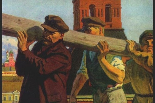 Первый субботник в истории. Еще в Талмуде рассказывается, что царь Египта объявил о всеобщих работах (первом в истории субботнике) - сам вышел на работы и начал таскать камни. Лояльные граждане,