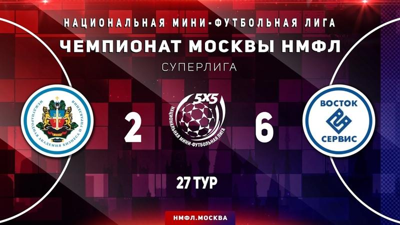 Обзор матча НМФЛ 2019 20 Суперлига МФК МАБиУ МФК Восток Сервис