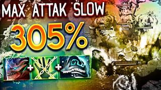 MAX ATTAK SLOW 305% [Elder Dragon Form + Untouchable + Shiva's Guard] CHC  I Dota 2 Custom game